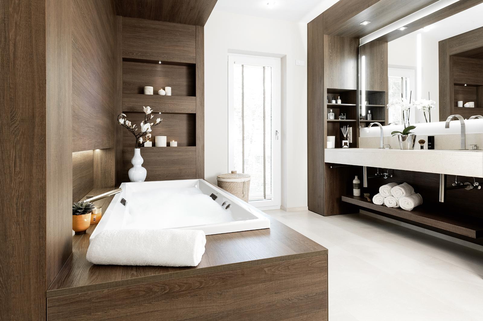 Holz im Badezimmer   Klein   Gelsenkirchen